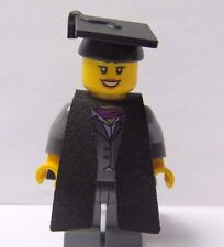 Lego  Girl Female Graduation Graduate Minifigure Figure Grey Suit