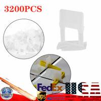 3200PCS Tile Leveling System Clips Kit 1.0mm Tile Spacer Tiling Tool Wall Floors