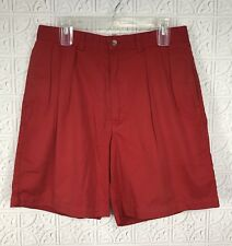 POLO Golf Men's Red Classic Golf Shorts Pleated Front Cotton Sz 33