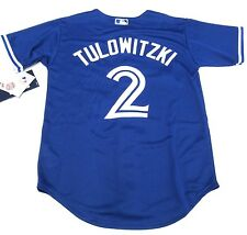 Toronto Blue Jays Youth Small Age 8 Jersey Cool Base Troy Tulowitzki Alternate