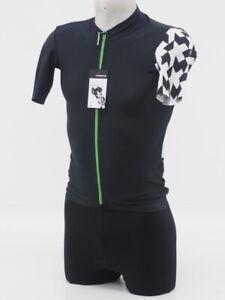 New! Assos Men's SS Equipe RS Aero Short Sleeve Cycling Jersey Medium Blk/Grn