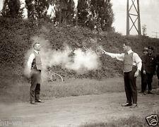 First Live testing of the Bulletproof Vest-Washington, DC 1923