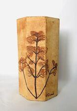 Vase les herbiers signé R. Leduc Circa 1950 Vallauris Capron Accolay Mid-century