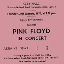 Pink Floyd Concert Coasters Ticket January 1972 coaster high quality mdf coaster