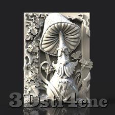 3D STL Model for CNC Router Carving Machine Bird Relief Artcam aspire Cut3D