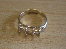 Quality 8 loop Ring blanks shanks gold beading x10 UK seller  A143