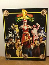 VINTAGE 1994 Power Rangers Wooden Picture Wall Hanging Decor