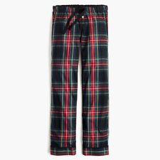 J.CREW Cotton poplin pajama pant in stewart plaid H2339 S Small PJ Bottom NEW