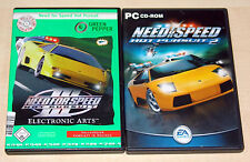 2 PC SPIELE SET - NEED FOR SPEED 3 III - HOT PURSUIT 1 & 2