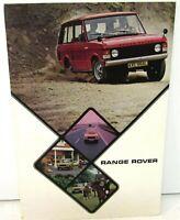1974 Range Rover Dealer Prestige Sales Brochure 4 X 4 Sport Utility