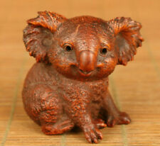 Japan Antique Boxwood handcarved miniature statue 'Koala' - Edo Era est 19th