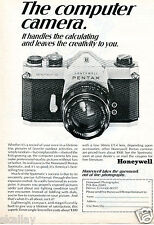 1969 Print Ad of Honeywell Pentax Spotmatic The Computer Camera