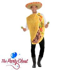 ADULT TACO COSTUME Mexican Tortilla Food Funny Novelty Fancy Dress Outfit 400079