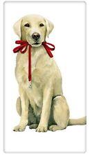 Yellow Labrador Retreiver Leash  Dog Flour Sack Dish Towel - Mary Lake Thompson