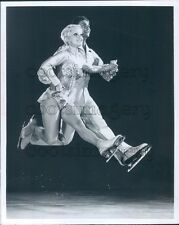 1977 Airborne Holiday on Ice Skaters Doug Berndt Patrice Leary Press Photo