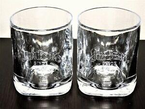 Jim Beam Since 1795 Embossed Square Bottom Rocks Glasses-Set Of 2