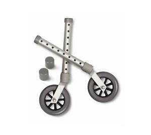 """Medline Replacement Swivel Casters for Walkers, 5"""""""