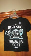 "Gap Kids ""The Dark Side Made Me Do It"" Angry Birds Star Wars Shirt- XS  (G 12)"