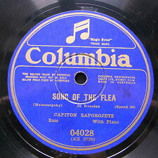 "12"" ZAPOROJETZ CAPITON Opera 78rpm Australia Columbia 04028 Song of the Flea"