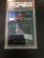 ⚾️ 2011 Bowman Chrome Throwbacks BRYCE HARPER Rookie RC PSA 8 NM - MINT🔥🔥