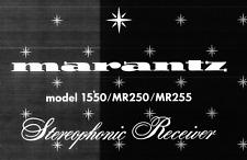 MARANTZ 1550 MR250 MR255 Schematic Diagram Service Manual Schaltplan Schematiqu