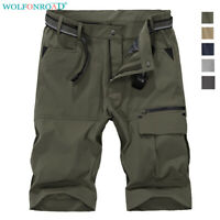 Men Cargo Shorts Quick Dry Shorts Outdoor Hiking Capri Pants Fishing Work Shorts