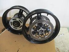 04 05 SUZUKI GSXR 600 750 FRONT AND REAR WHEELS WITH ROTORS  GSX-R RIMS  ROTORS
