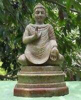 Bouddha Statue Marbre 6,7 kilo Sculpture Fait main Inde Népal Bouddhisme Yoga V5