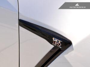 AutoTecknic NS-0040 Carbon Fiber Fender Trims Fits 15-18 Nissan R35 GT-R