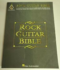 ROCK GUITAR BIBLE TAB SONGBOOK TABLATURE BOSTON KINKS BOWIE CREAM JAMES GANG NEW