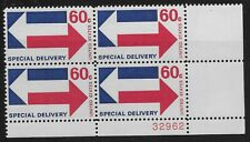 US Scott #E23, Plate Block #32962 1971 Special Delivery 60c FVF MNH Lower Right