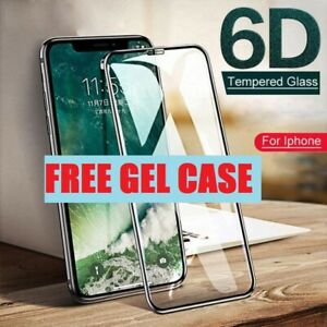 Screen Protector for iPhone X XS XR 11,12 Pro MAX FULL COVER TEMPERED GLASS Case