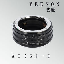 【YEENON】NIKON AI (G ) to SONY E Camera Adapter
