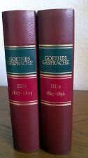 Goethe Gespräche 1817 - 1832 Biedermann Leder Artemis Bd. 3.1. & 3.2.
