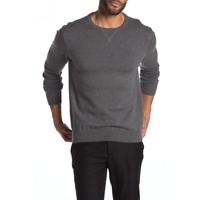 Wallin Bros Mens Gray Crew Neck Pullover Sweater Size Large