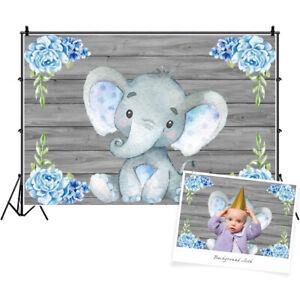 Baby Birthday Party Background Elephant Studio 3x2ft Backdrop Photo Props Scene