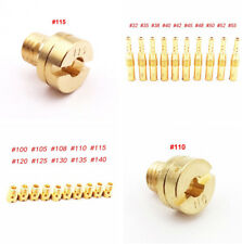 10Pcs Round Style Main Jet Kit + 10Pcs Slow/Pilot Jet for 125cc 150cc Carburetor
