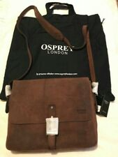 8414b90943 osprey brown London leather bag new
