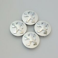 Peugeot Silver Wheel Hub Center Caps 4x60 mm, 206 207 307 308 406 407