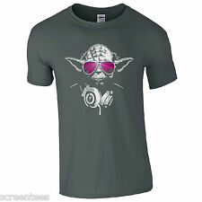 DJ Yoda Jedi Master T-Shirt - Star Wars Music Hip Hop Party Disco Kids Mens Top