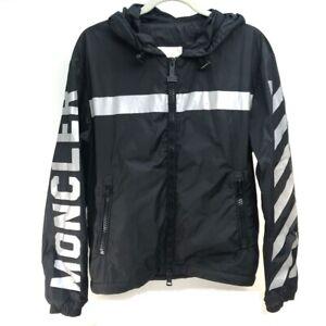MONCLER x OFF WHITE collaboration GANGUI GIUBBOTTO Outer Jacket Black x Silver