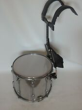 Slingerland 12 x 15 Marching Snare Drum with Carrier Chrome Over Wood