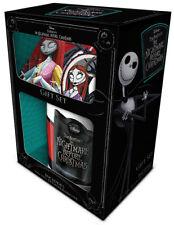Nightmare Before Christmas Jack & Sally Mug, Coaster and Keyring Gift Set