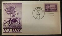 1945 Washington DC USA Patriotic FDC Cover Victory Day Japan VJ Anderson C