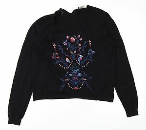 Oasis Womens Black   Pullover Jumper Size S