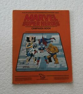 TSR - Marvel Super Heroes - Campaign book + autographe de Jeff Grubb