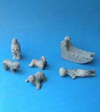 Rare old Greenlandic Inuit Tupilak carving collection. Signed and dated.