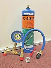 R404A, R-404a, Refrigerant 28 Oz. Disposable Can, Check & Charge It Gauge & Hose