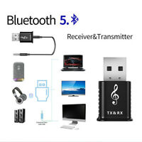 2in1 Bluetooth 5.0 Audio Transmitter Receiver USB Adapter For Car Speaker PC TV