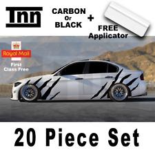 BMW E90 E91 E92 3 serie M de carbono 3D Tigre Rayas de rendimiento Pegatina Calcomanía